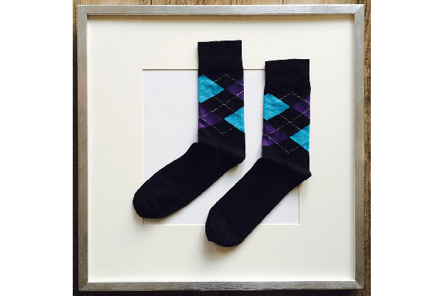 Socken Schottenkaro Schwarz-Blau-Violett