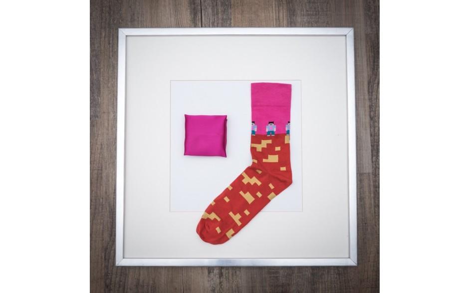 Set Pochette Uni Pink hell & Socken Lego