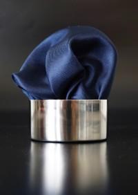Pochette Uni Schwarzblau