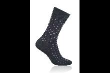 Socken Sprenkel Rosa auf Schwarz