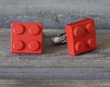 Manschettenknöpfe Rot Lego 10