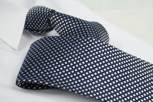 Krawatte Karo Tiefschwarz/Quarzgrau