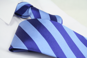 Krawatte Streifen Pastelblau/Kobaltblau