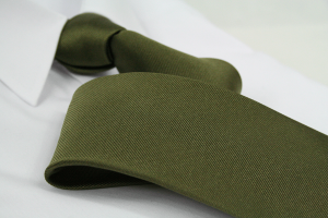 Krawatte Uni Olivgrün