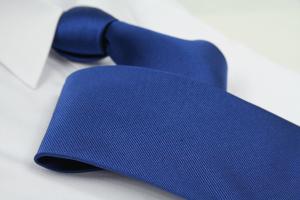 Krawatte Uni Saphirblau