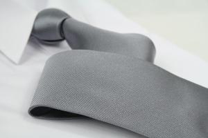 Krawatte Uni Silbergrau