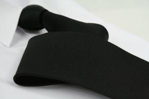 Krawatte Uni Tiefschwarz