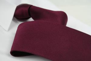 Krawatte Uni Weinrot