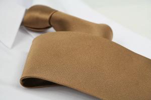 Krawatte Uni Braungelb