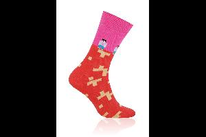 Socken Lego Rosa
