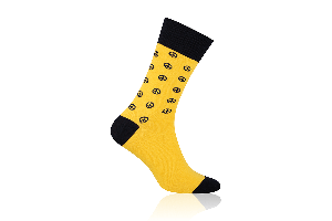 Socken Peace Gelb