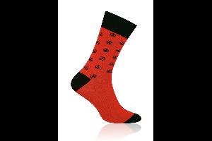 Socken Peace Rot