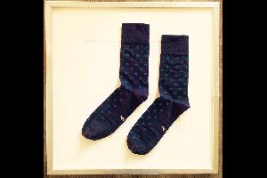 Socken Punkte Grün-Blau