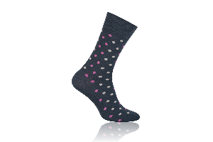 Socken Punkte Rosa-Grau
