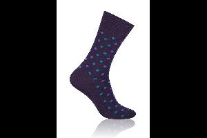Socken Punkte Violett-Grün