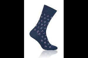 Socken Raute Blau mit Violett