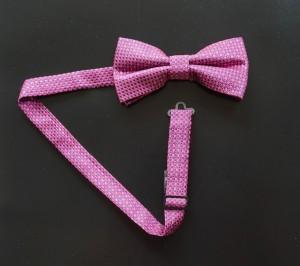 Fliege Sprenkel Pink dunkel/Kobaltblau