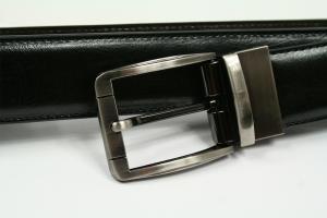 Ledergürtel Schwarz/Braun Vernon 002 REVERSE