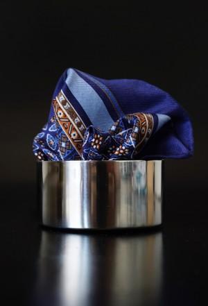 Pochette Paisley Kobaltblau