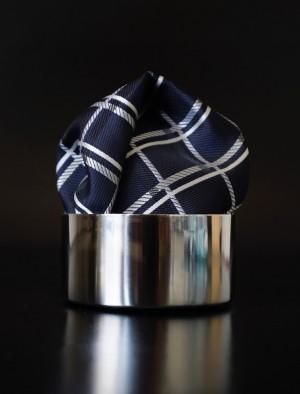 Pochette Schottenkaro Schwarzblau