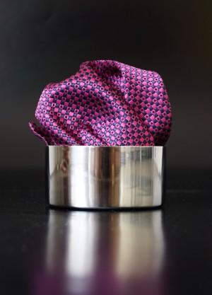 Pochette Sprenkel Pink dunkel/Kobaltblau