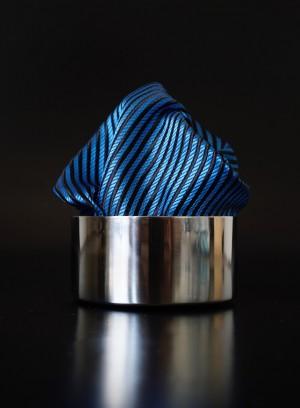 Pochette Streifen Blaugrün