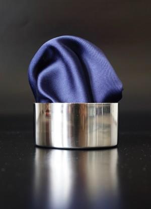 Pochette Uni Kobaltblau